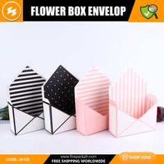 Flower Boxes, Flowers, Packaging Solutions, Quotations, Envelope, Coding, Free Shipping, Shopping, Window Boxes