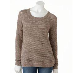 SONOMA life + style® Open-Work Sweater