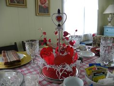 Queen of Hearts Tea Bad Hatters Tea Club Crabtree Gardens Centerpiece Scepter