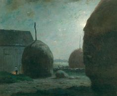 Dwight William Tryon, Newbury Haystacks in Moonlight, ca. 1887