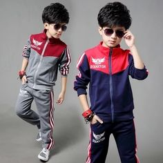 31.99$  Buy now - http://aliwsb.worldwells.pw/go.php?t=32508058434 - Free shipping new arrival children clothing set spring/autumn sport suit two-pieces suit boy leisure suit