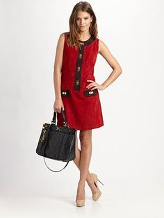 Milly suede luggage lock carah dress
