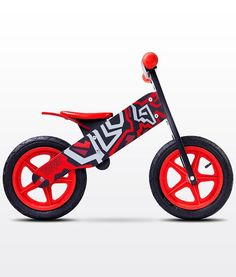 Bicicleta madera sin pedales Zap rojo [ZAP ROJO] | 69,00€ : La tienda online para tu peke | tienda bebe pekebuba.com