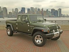 FCA News for Jeep Wagoneer, Grand Wagoneer + Wrangler Pickup It's official, Jeep is bringing back the Wagoneer, a Wrangler pickup truck and they are adding a Grand Wagoneer to the lineup! Wrangler Jeep, Jeep Wrangler Pickup Truck, Jeep Rubicon, Jeep Wranglers, Jeep Truck, Jeep Wrangler Unlimited, Pickup Trucks, Jeep Willys, Jeep Gladiator