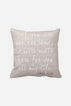 Wedding Gift Pillow Cover Cotton Anniversary Gift