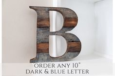 Wood Letter, Woodland Nursery, Home, Farmhouse Decor, Wall Letter, Rustic Home Decor, Wooden Letter, Room Decor, Nursery Wall Letter by CurtisandFoster on Etsy https://www.etsy.com/listing/267142207/wood-letter-woodland-nursery-home