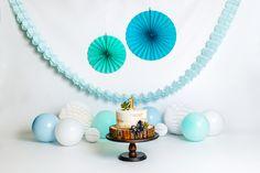 Baby blue cake smash photoshoot decor. Birthday Cake Smash, First Birthday Cakes, Blue Cakes, Fashion Cakes, Baby Blue, First Birthdays, Photoshoot, Photography, Decor