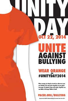 Promote Unity Day by displaying this poster in your school, home, or community.