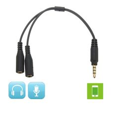 High Quality 1 Male To 2 Dual Female Earphone Headphone Y Splitter Audio Cable Adapter For iphone 5 5s 6 6Plus