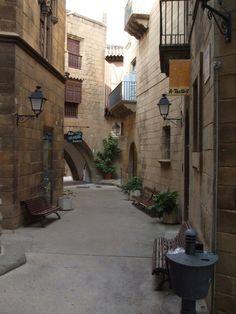 Spain, Barcelona, Poble Espanyol