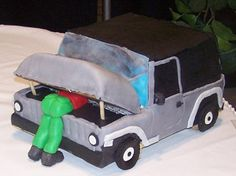 Jeep cake - perfect for Chris. :)