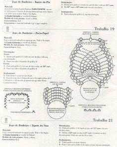 """Vaz Crochês """"Artesanato em Crochê"""": grafcos jgo banheiro"""