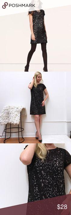 """LOFT shift dress lace & Nude Sz 8 Loft dress. Lace top and nude slip. Excellent condition. Chest flat across 19"""" length 35"""" LOFT Dresses"""