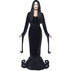 Turn yourself into Morticia Addams from the Addams family for Halloween with this great value Morticia costume from Party Delights.
