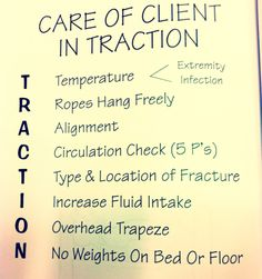 Going over traction care now in peds