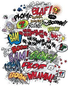 Comic word - Vector Material