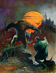Wolfman - art by Frank Frazetta