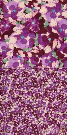 quilting cotton fabric with purple and cream pansies on green background, brush painting style, Material: 100% cotton, Fabric Type: smooth cotton fabric #Cotton #Flower #Leaf #Plants #USAFabrics