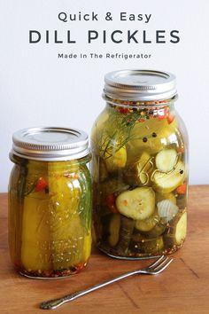 Homemade Crisps, Homemade Salsa, Refrigerator Pickle Recipes, Eating Vegetables, Veggies, Pickled Garlic, Vegan Recipes Easy, Side Dish Recipes, Quick Easy Meals