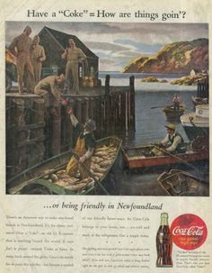 Coca-Cola around the world, World War II American soldiers in Newfoundland, Coca-Cola ad 1944 – Adbranch