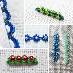 Embroidery with Beads - Index of Tutorials