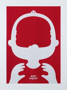 KFC se suma a las gráficas minimalistas