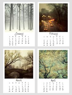 I have to make a calendar of my photos! What a great way to display them!!