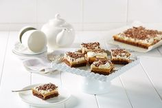 Banana and caramel - a match made in heaven. This tempting banoffee slice will certainly impress guests.