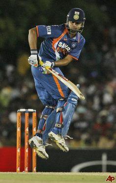 Suresh Raina batting