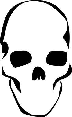 Simple A3 Printable Skull Stencil Stencil Art Skull Stencil