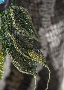 #ButterflyRainforest #wirecrochet #artinstallation #studiodeanna #fiberart #CairnsBotanicGarden #crochet #fibreart #coloredcopperwire #firemtngems #crochetwire #caterpillar