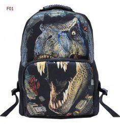 f0b6463659 2016 printing Dragon Dinosaur Backpacks Animal printing Mochilas fashion  toursm backpacks for Man School bags for teenagers