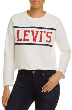 Levi's Raw-Edge Graphic Fleece Sweatshirt