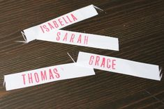 How to make personalized fabric tags