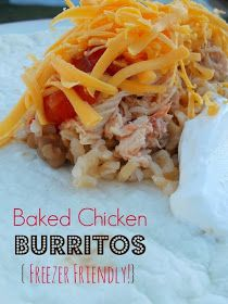 Ally's Sweet and Savory Eats: Baked Chicken Burritos {Freezer Friendly!}