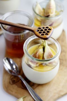 Cardamom Panna Cotta with Honeyed Figs | www.bellalimento.com