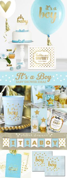 Boy Baby Shower Decorations Balloons will make a great centerpiece for your boy baby shower tables! Set of 3 baby balloons - includes 2 small balloons
