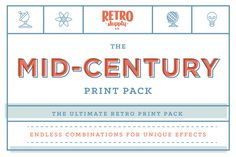 Mid-Century Print Pack | PSD Bundle by RetroSupply Co. on @creativemarket
