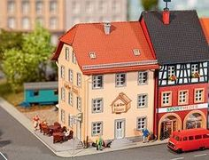 Faller Old City Cafe Kit N Scale Model Railroad Building #232332