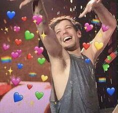 New Ideas Memes Apaixonados Melanie One Direction Humor, One Direction Pictures, One Direction Liam Payne, Meme Faces, Funny Faces, 100 Memes, Heart Meme, Cute Love Memes, Louis Tomlinsom