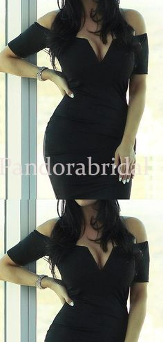 Sexy Black Off Shoulder Mermaid Homecoming Dresses, Cheap Homecoming D – PandoraBridal Freshman Homecoming Dresses, Homecoming Dresses Tight, Two Piece Homecoming Dress, Short Dresses, Long Sleeve Backless Dress, Chic Fall Fashion, Black Off Shoulder, Spring Dresses, Fall Winter Outfits
