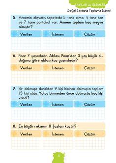1. Sınıf Konu Anlatım MATEMATİK FASİKÜLLERİ Math For Kids, First Grade, Periodic Table, Education, Books, Periodic Table Chart, Libros, Periotic Table, Book