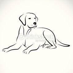 Vektorgrafik : Vector image of an dog labrador