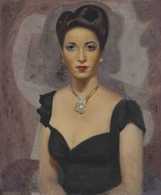 Portrait of Fina Gómez (1944). Cândido Portinari (Brazilian 1903-1962).