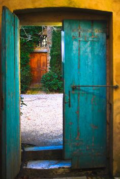 Turquoise door (by SARA GEE PHOTOGRAPHER)