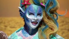 "S11E3 ""Monster High"" -  Close up of Lagoona Blue. Cig & George created a beautiful sea monster that expands upon the doll's look. Natasha and the focus group love it. She looks fintastic!"