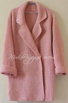 Knitting Patterns Coat Today, when the temperature outside the window suddenly lifted . Crochet Coat, Crochet Jacket, Knitted Coat, Crochet Cardigan, Knit Jacket, Crochet Clothes, Knit Fashion, Look Fashion, Knitting Designs