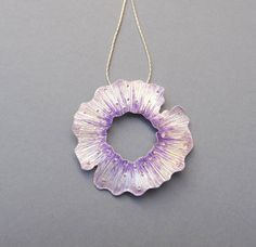 Handmade Violet Silver Pendant made of sterling silver and enamel.The violet enamel on that beautiful texture offers a very contemporary look for your neck. Enamel Jewelry, Clay Jewelry, Silver Jewelry, Gold And Silver Bracelets, Silver Rings, Silver Pendants, Stamped Jewelry, Silver Enamel, Violet
