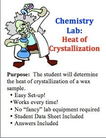 Classroom Freebies: Chemistry Lab: Heat of Crystallization