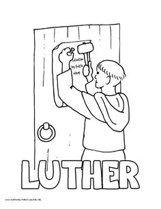 World History Coloring Pages Printables Martin Luther 95 Theses Wittenberg